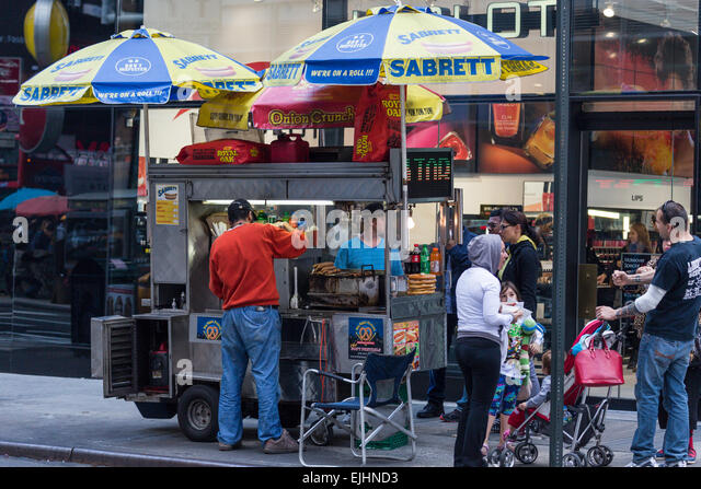 Sabrett Hot Dog Cart Umbrella For Sale
