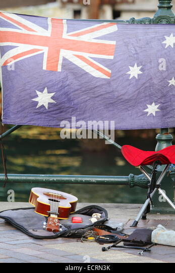 Empty Stool Stock Photos amp Empty Stool Stock Images Alamy : a buskers guitar and stool in front of the australian flag along the ecrn3k from www.alamy.com size 347 x 540 jpeg 58kB