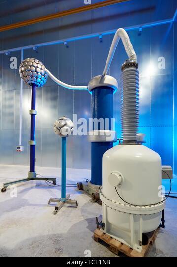 High Voltage Cage : Faraday building stock photos