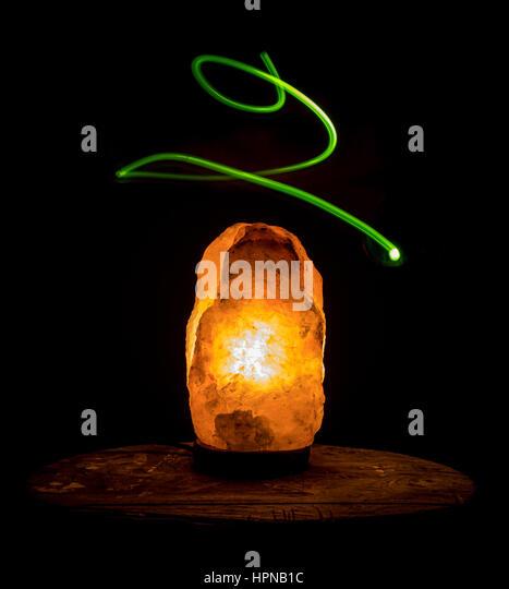 Salt Rock Lamp Green Earth : Himalayan Salt Lamp Stock Photos & Himalayan Salt Lamp Stock Images - Alamy