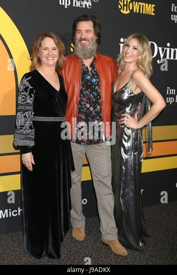 Melissa Leo, Jim Carrey, Ari Graynor at arrivals for Showtime's I'M DYING UP HERE Premiere, DGA Theater, - Stock Image