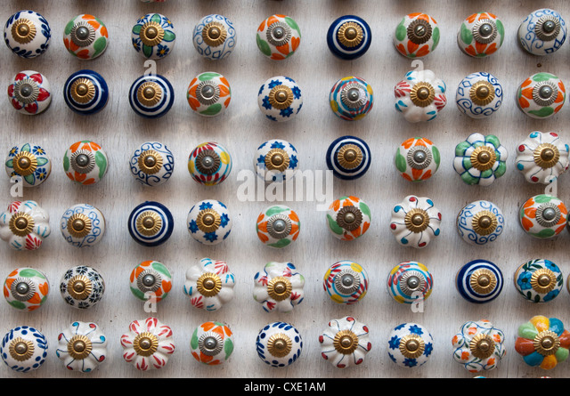 Painted Colourful Door Knobs Mattancherry Stock Photos & Painted ...
