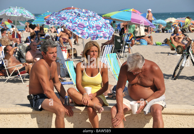 Hollywood Florida USA Beach Scene With People