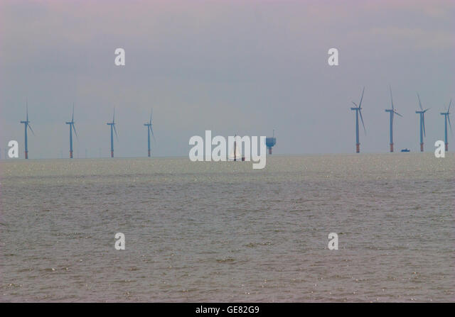 Thames Estuary Wind Farm Stock Photos  Thames Estuary Wind Farm