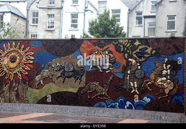 Cattle raid stock photos cattle raid stock images alamy for Dublin wall mural