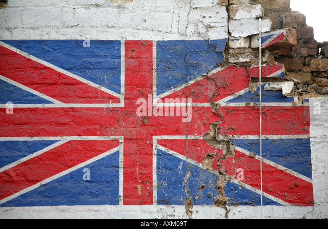 Union Jack Mural, South East London, UK.   Stock Image Part 93