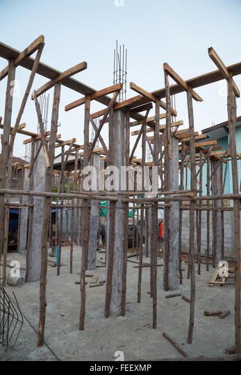 Metal Pillars Foundation Building Stock Photos Metal