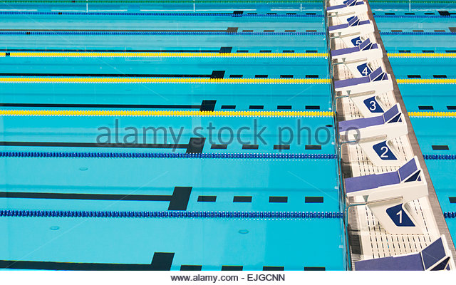 Olympic Swimming Pool Lanes olympic swimming pool indoor stock photos & olympic swimming pool