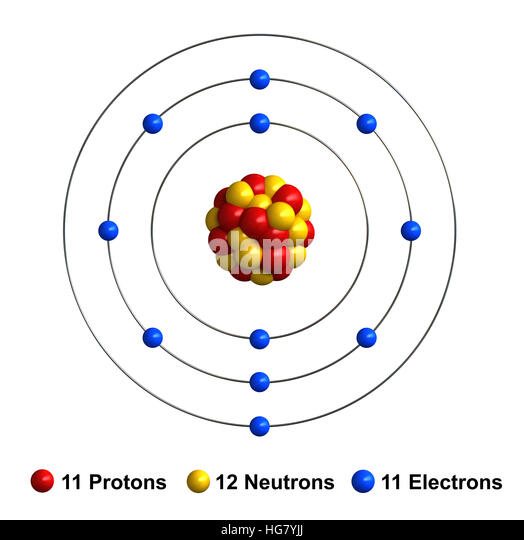 Electrons cut out stock images pictures alamy 3d render of atom structure of sodium isolated over white background stock image ccuart Gallery