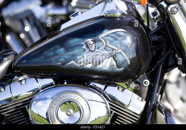 painted stock photos harley davidson custom painted stock images. Black Bedroom Furniture Sets. Home Design Ideas