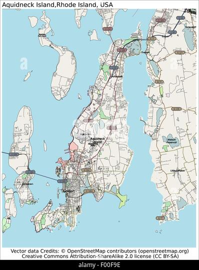 Rhode Island State Map Stock Photos Rhode Island State Map Stock - Road island usa map