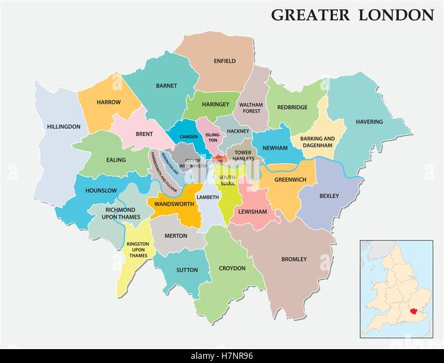 Area Map Of London Photos Area Map Of London Images – Map of Greater London England