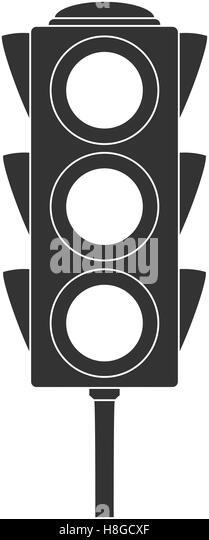 Icon Of Traffic Light Black Style Vector Illustration
