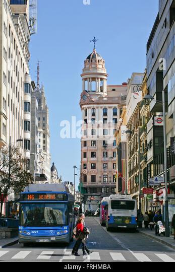 Madrid streets stock photos madrid streets stock images Metro santo domingo madrid