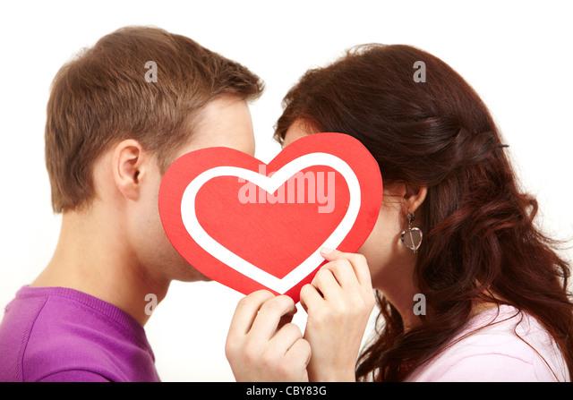 Romantic Love Kiss Heart Stock Photos & Romantic Love Kiss ...
