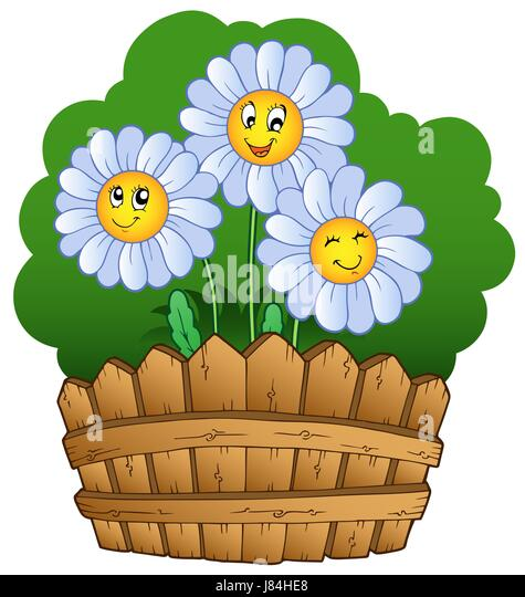 Cartoon Of Garden Flowers Stock Photos & Cartoon Of Garden Flowers ...