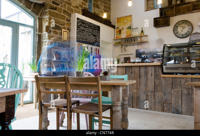 Cafe Interior Design At The Bivouac Outdoor Centre North Yorkshire Dales UK