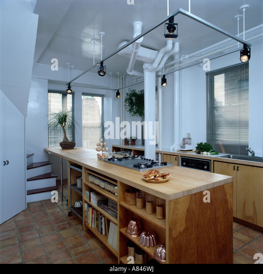 Kitchen Shelving Monochromatic Stock Photos & Kitchen
