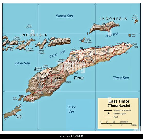 East Timor Map Stock Photos East Timor Map Stock Images Alamy