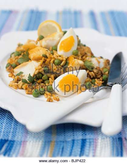 Smoked haddock egg stock photos smoked haddock egg stock for Rice dishes with fish