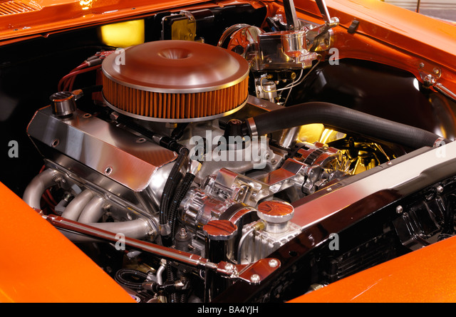 Muscle Car Engine Air Cleaners : Air filter car engine stock photos