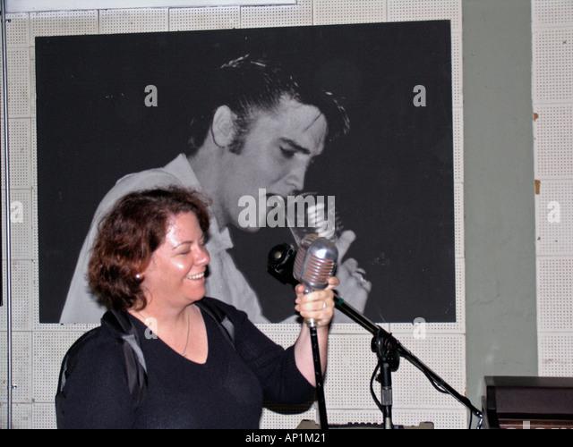 Elvis presley singing microphone