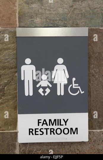 Family restroom toilet bathroom sign   Stock Image. Handicap Restroom Sign Stock Photos   Handicap Restroom Sign Stock