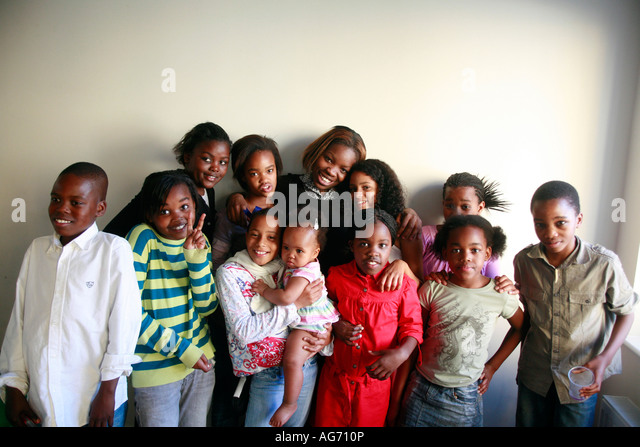 Group Of Young Black People
