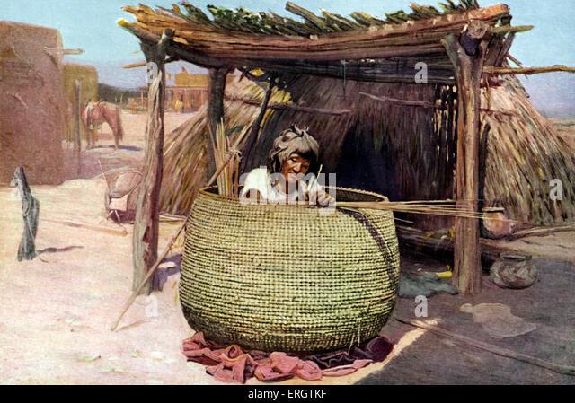 Basket Weaving Supplies Sacramento : Indian apache stock photos images