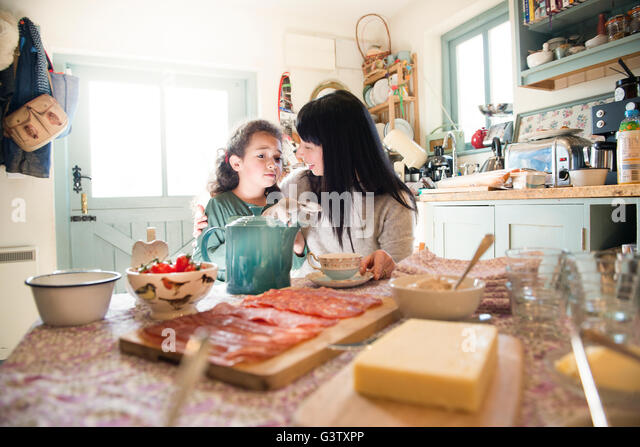 Table For 6 Year Old: Comforted People Stock Photos & Comforted People Stock