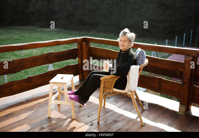 Senior woman on wooden terrace resting with feet up. - Stock Image  sc 1 st  Alamy & Step Stool Stock Photos u0026 Step Stool Stock Images - Alamy islam-shia.org