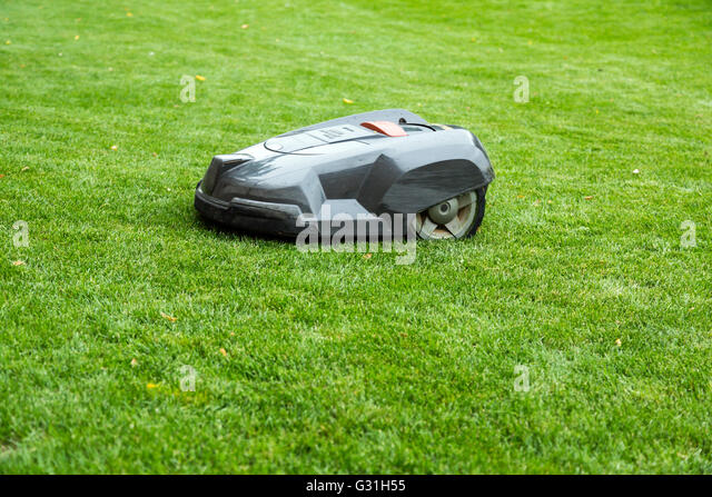 robotic lawn mower stock photos robotic lawn mower stock. Black Bedroom Furniture Sets. Home Design Ideas