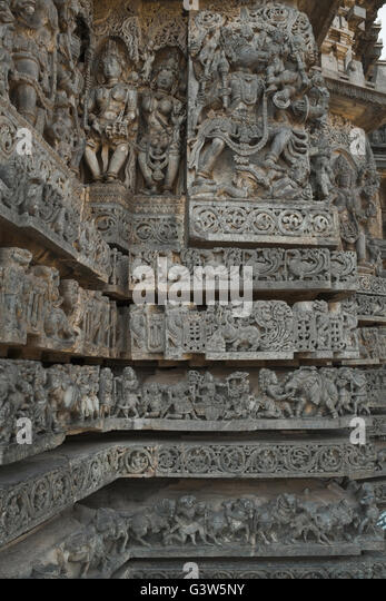 Temple Wall Panels : Temple wall carvings stock photos