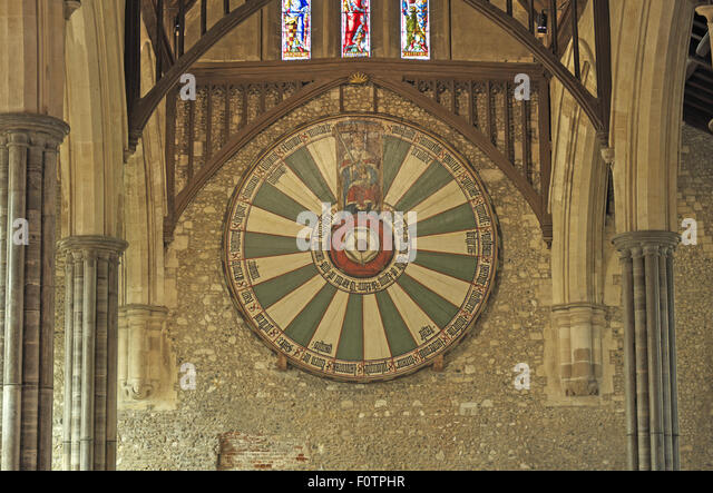 Winchester castle stock photos winchester castle stock images alamy - Round table winchester cathedral ...