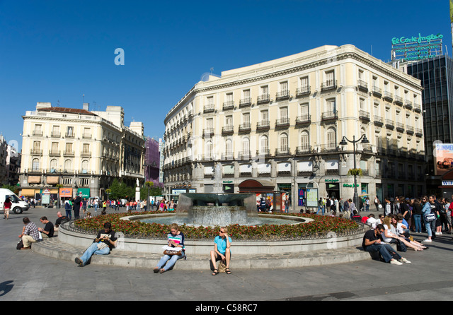 Plaza puerta del sol madrid spain stock photo picture for Plaza puerta del sol