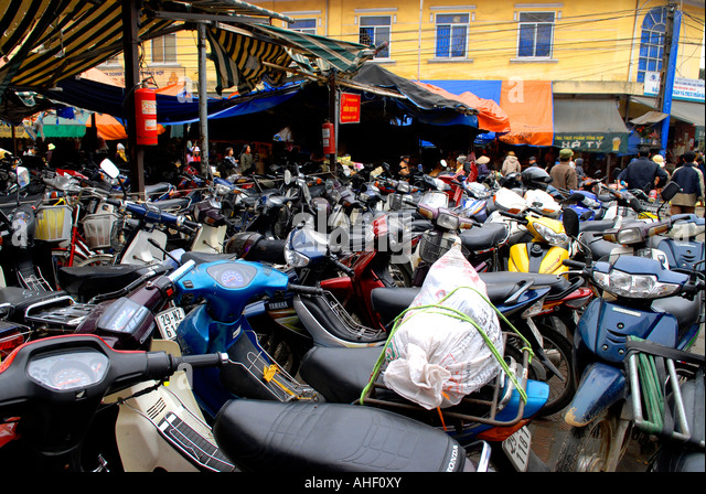 Hanoi Vietnam Scooters Parking Stock Photos Hanoi Vietnam