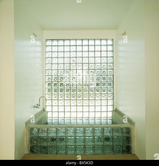 Glass brick wall stock photos glass brick wall stock - Glass bricks designs walls ...