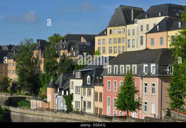 Luxembourg houses in grund stock photos luxembourg for Luxembourg homes