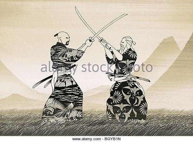 men sword fighting Gallery