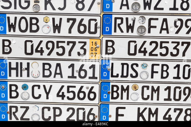 German Car Registration License Plate Stock Photos German Car