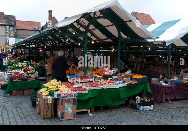 newgate open air market in york stock photo picture and. Black Bedroom Furniture Sets. Home Design Ideas