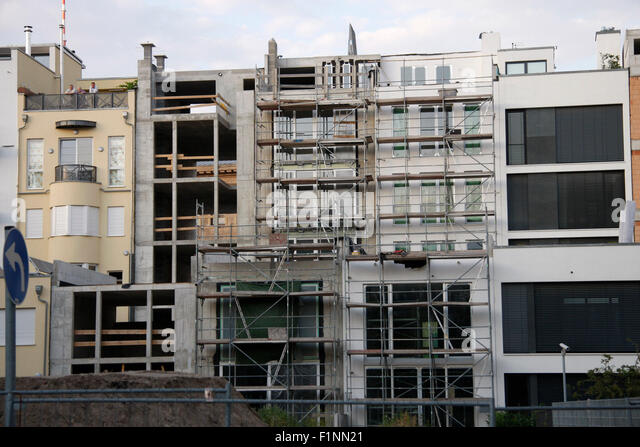 Townhouse Berlin townhouse construction site in berlin stock photos townhouse