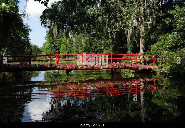 Magnolia plantation and gardens bridge stock photos magnolia plantation and gardens bridge for Magnolia gardens charleston sc