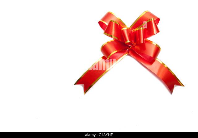 Gift ribbon stock photos gift ribbon stock images alamy red gift ribbon isolated on white background stock image negle Choice Image