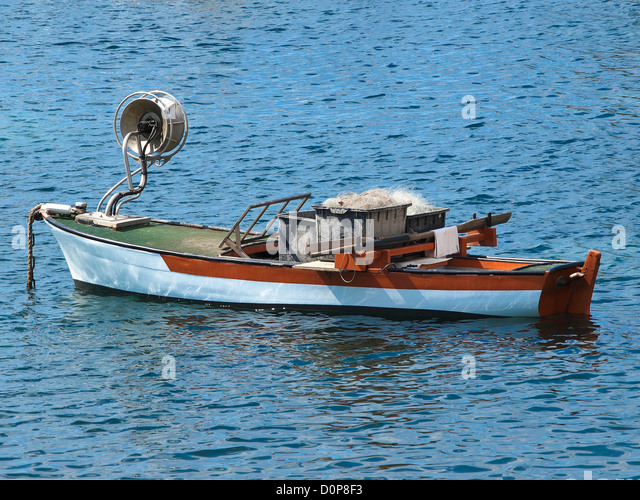 Old wooden fishing boat stock photos old wooden fishing for Wooden fishing net