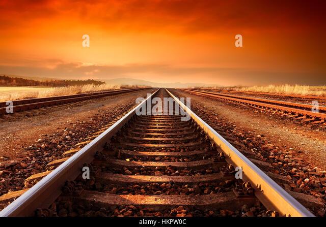 train tracks and orange1 - photo #17