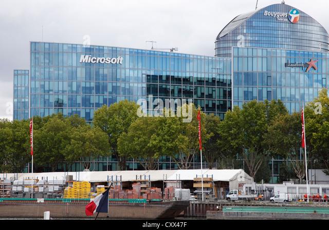 Beautiful Microsoft Headquarters In Paris   Stock Image Part 9