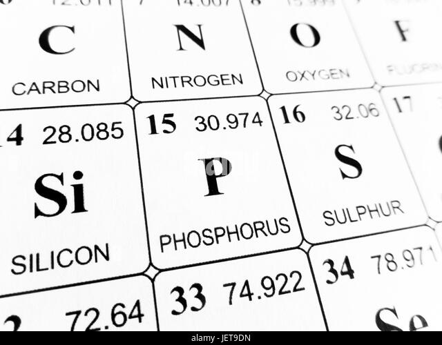 Periodic table element phosphorus stock photos periodic table phosphorus on the periodic table of the elements stock image urtaz Images