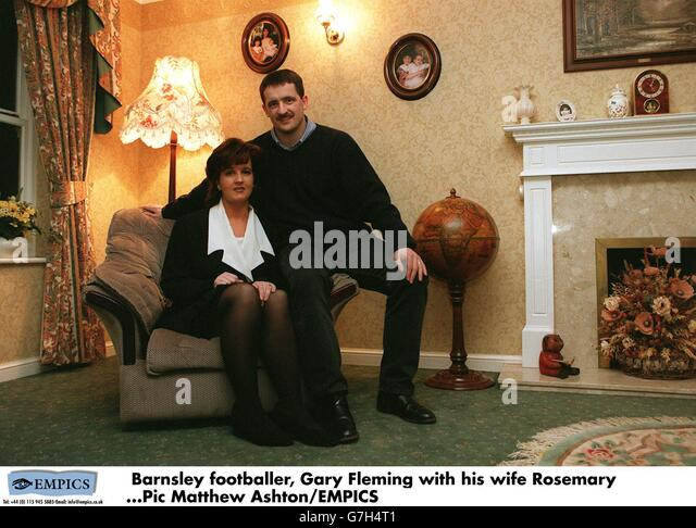English soccer gary fleming at home in nottingham stock image