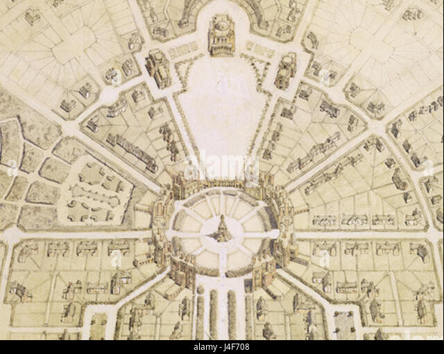 Edgar Wood  Withington masterplan - Stock Image